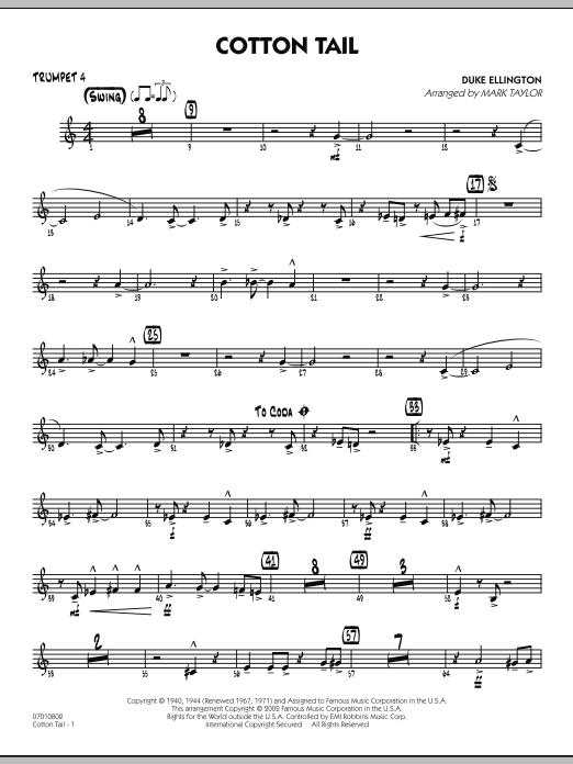 Cotton Tail - Trumpet 4 (Jazz Ensemble)