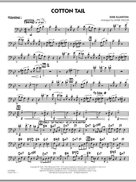 Cotton Tail - Trombone 1 (Jazz Ensemble)