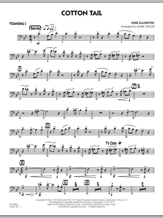 Cotton Tail - Trombone 2 (Jazz Ensemble)