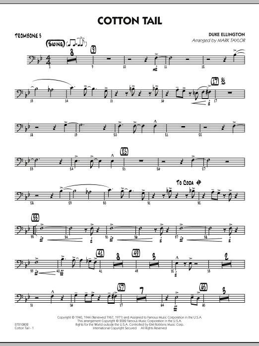 Cotton Tail - Trombone 3 (Jazz Ensemble)