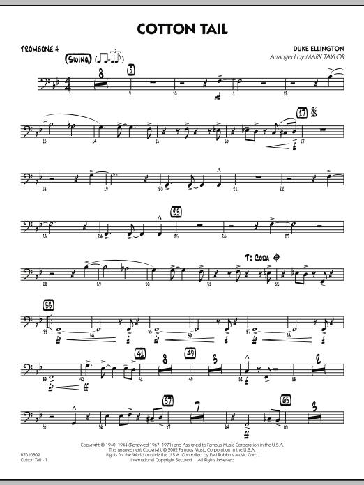 Cotton Tail - Trombone 4 (Jazz Ensemble)