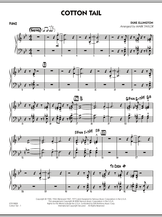 Cotton Tail - Piano (Jazz Ensemble)
