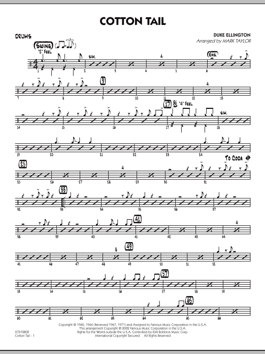 Cotton Tail - Drums (Jazz Ensemble)