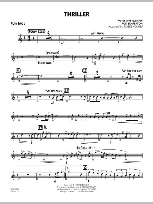 Thriller - Alto Sax 1 (Jazz Ensemble)