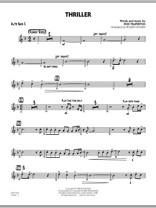 Thriller - Alto Sax 2 (Jazz Ensemble)