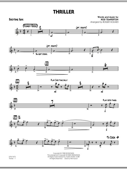 Thriller - Baritone Sax (Jazz Ensemble)