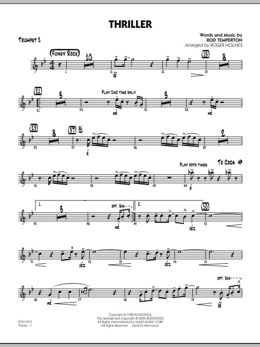 Thriller - Trumpet 2 (Jazz Ensemble)