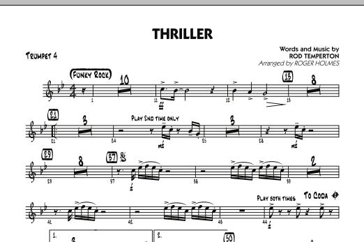 Thriller - Trumpet 4 (Jazz Ensemble)