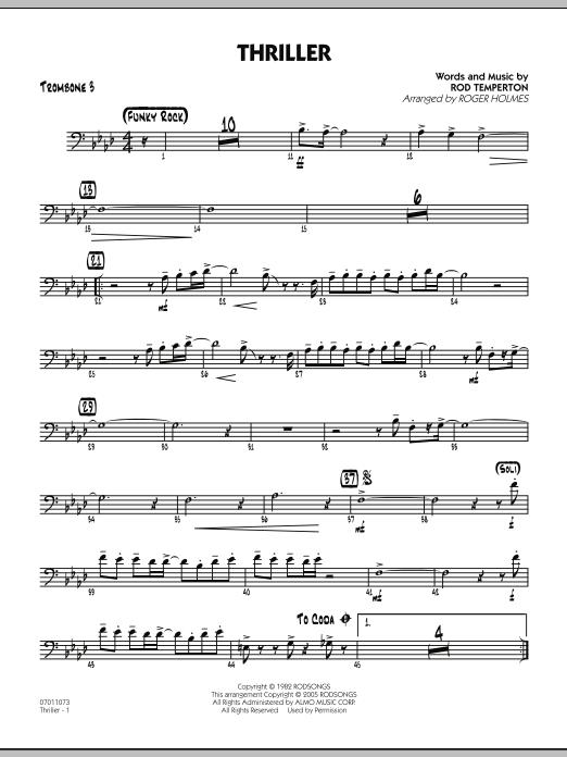 Thriller - Trombone 3 (Jazz Ensemble)