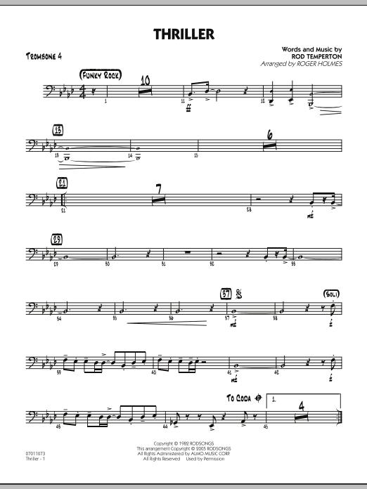 Thriller - Trombone 4 (Jazz Ensemble)