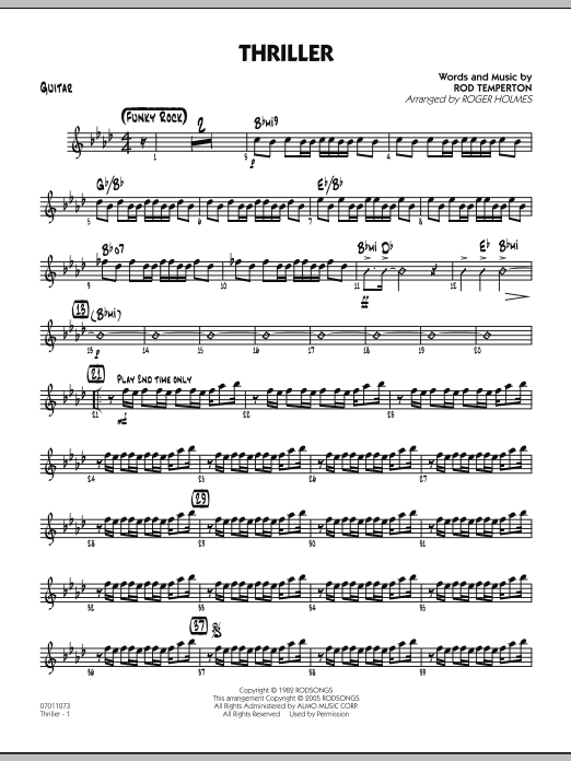 Thriller - Guitar (Jazz Ensemble)