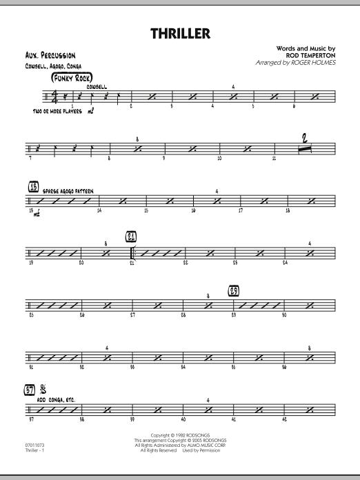 Thriller - Aux Percussion (Jazz Ensemble)