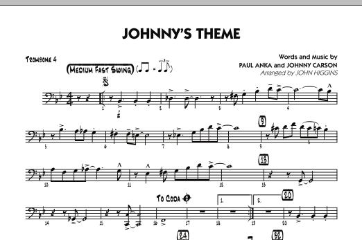 Johnny's Theme (from The Tonight Show) - Trombone 4 (Jazz Ensemble)
