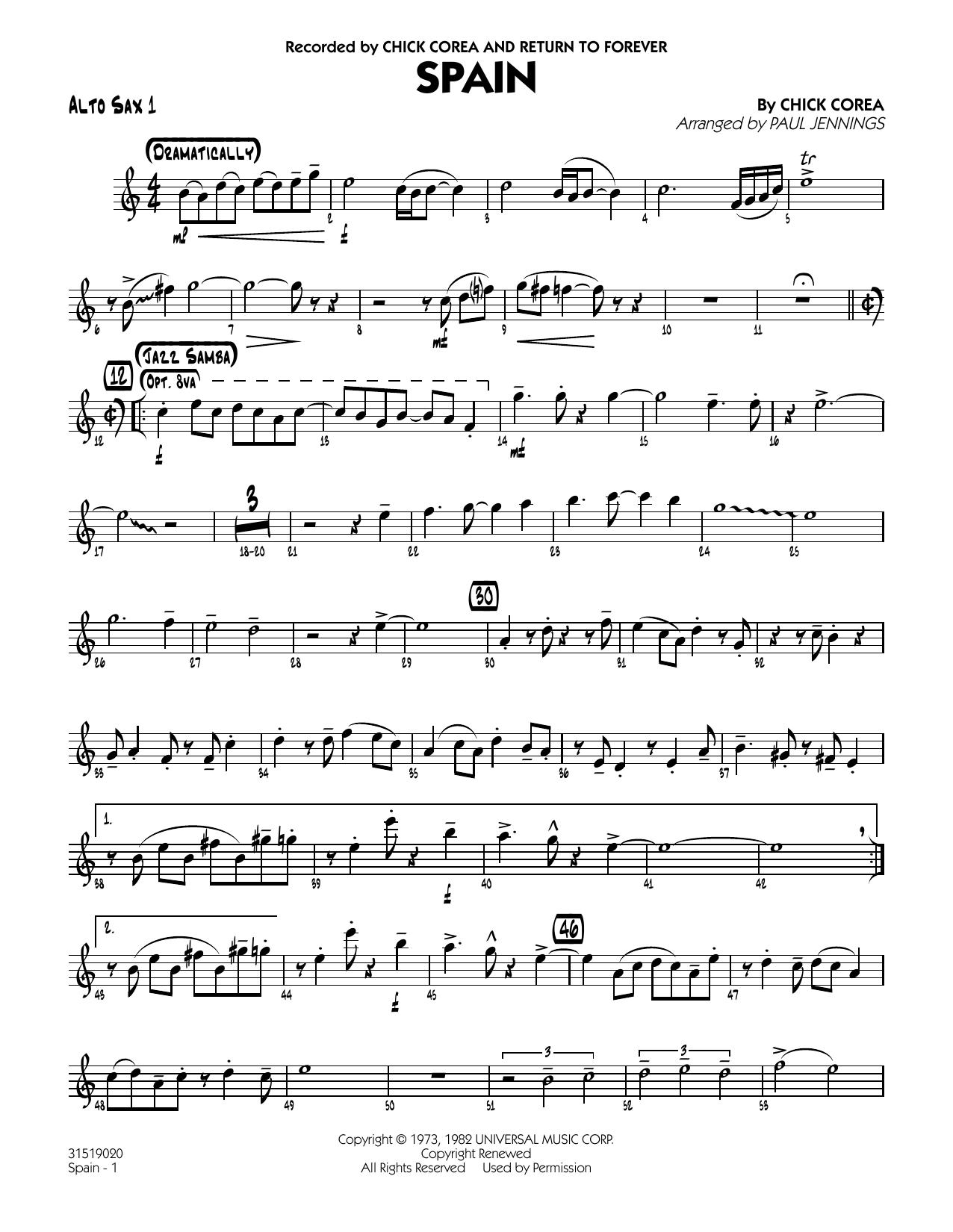 Spain - Alto Sax 1 (Jazz Ensemble)