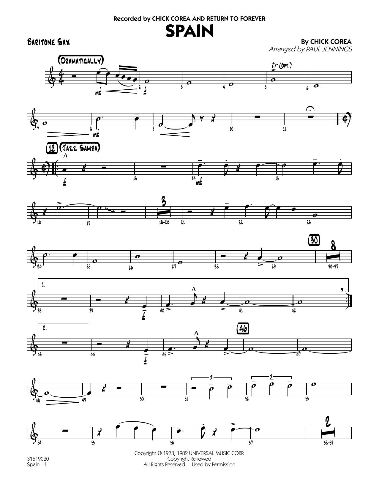 Spain - Baritone Sax (Jazz Ensemble)