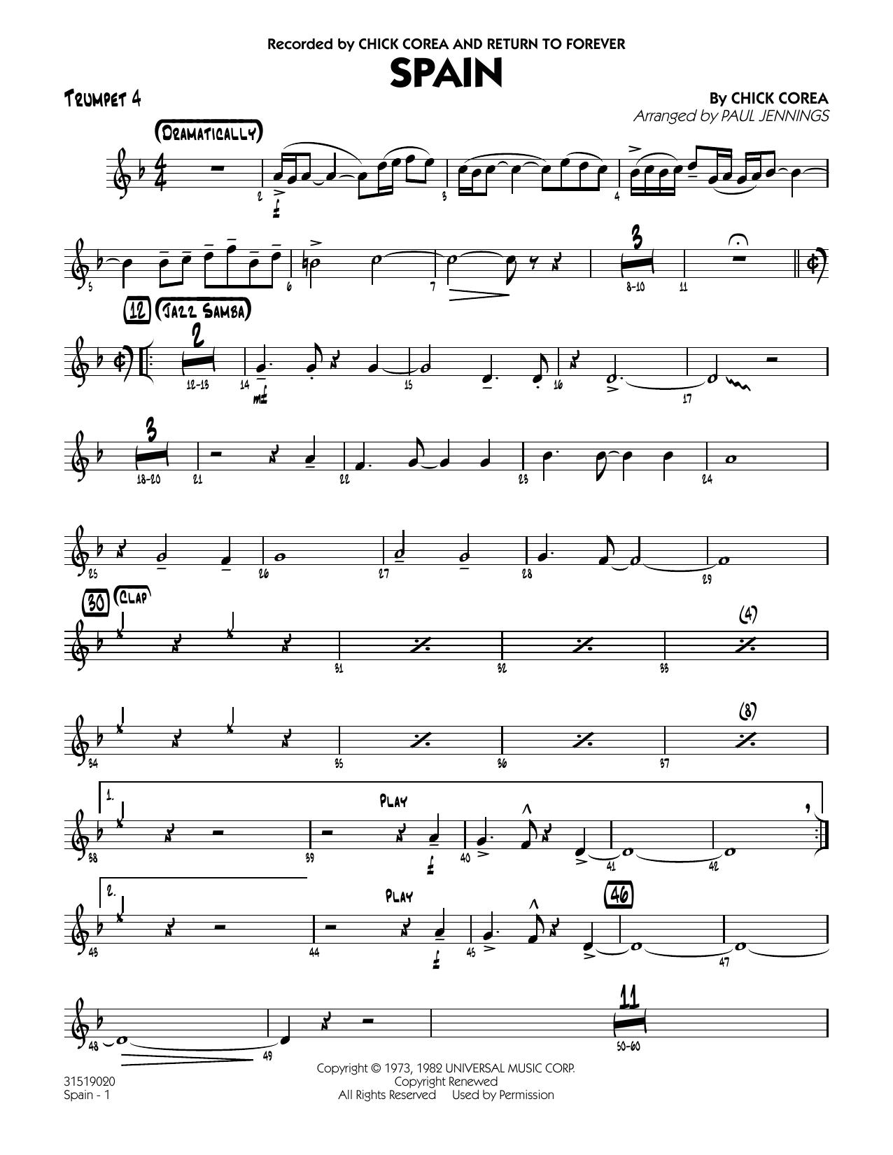 Spain - Trumpet 4 (Jazz Ensemble)