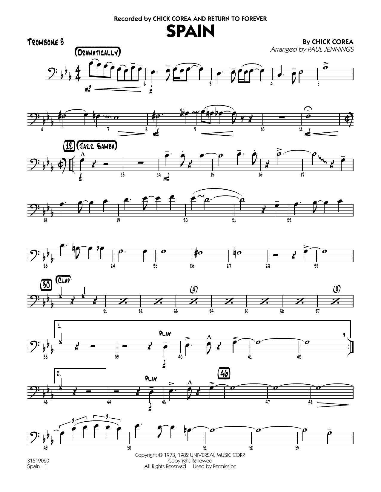 Spain - Trombone 3 (Jazz Ensemble)