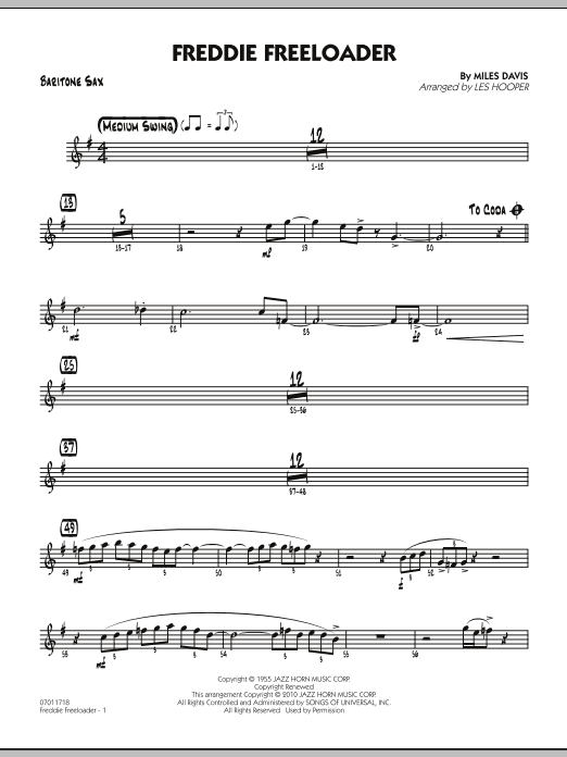 Freddie Freeloader - Baritone Sax (Jazz Ensemble)