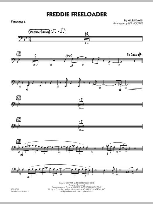 Freddie Freeloader - Trombone 4 (Jazz Ensemble)