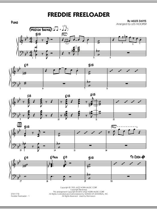Freddie Freeloader - Piano (Jazz Ensemble)