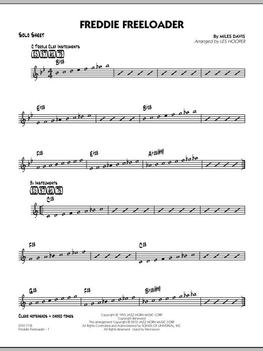 Freddie Freeloader - Solo Sheet (Jazz Ensemble)