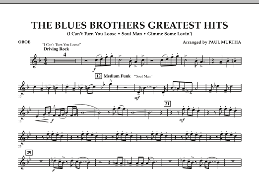 The Blues Brothers Greatest Hits - Oboe (Concert Band)
