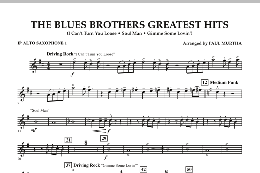 The Blues Brothers Greatest Hits - Eb Alto Saxophone 1 (Concert Band)