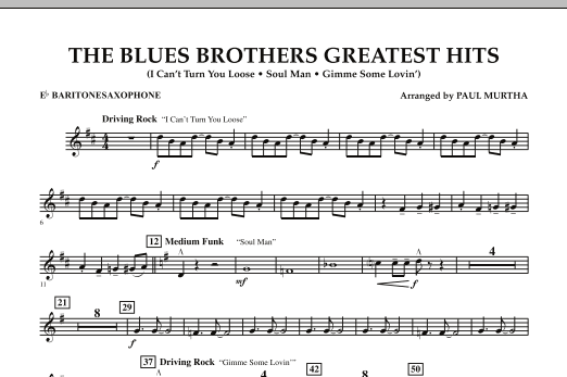 The Blues Brothers Greatest Hits - Eb Baritone Saxophone (Concert Band)