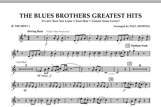 The Blues Brothers Greatest Hits - Bb Trumpet 1 (Concert Band)
