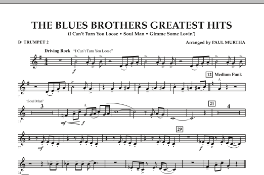 The Blues Brothers Greatest Hits - Bb Trumpet 2 (Concert Band)