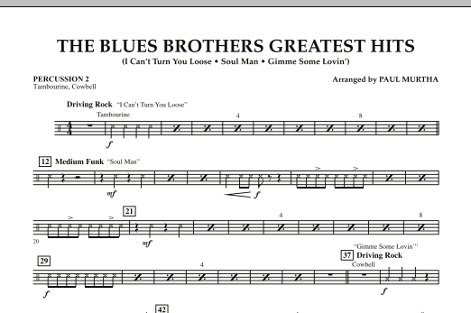 The Blues Brothers Greatest Hits - Percussion 2 (Concert Band)