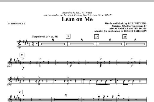 Lean On Me - Bb Trumpet 2 (Choir Instrumental Pak)