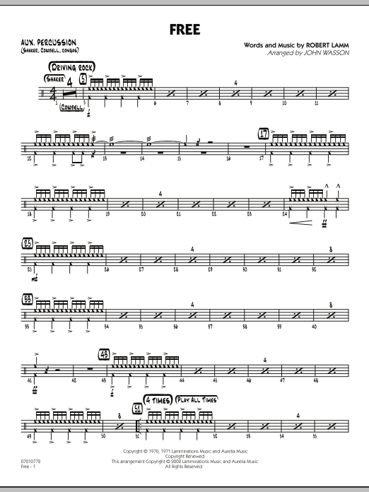 Free - Aux Percussion (Jazz Ensemble)