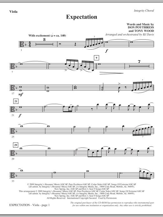 Expectation - Viola Sheet Music