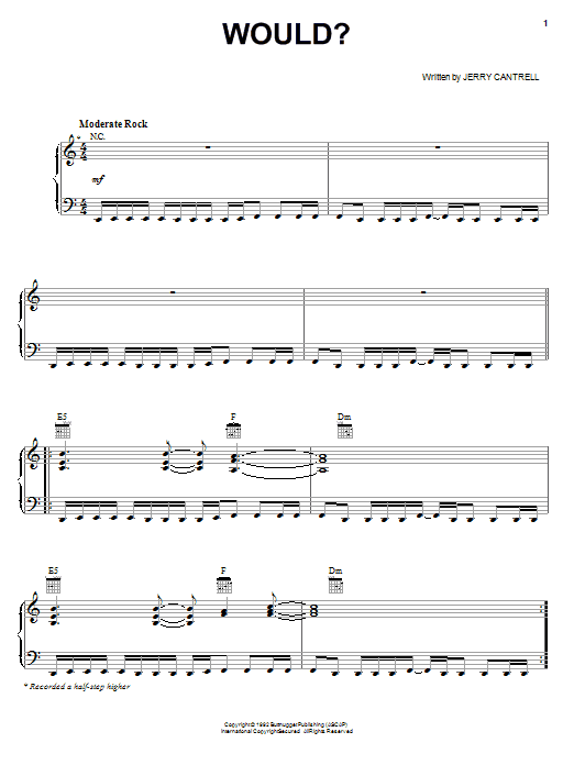 Would? Sheet Music