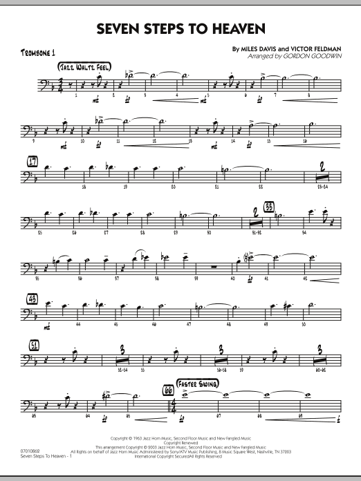 Seven Steps To Heaven - Trombone 1 (Jazz Ensemble)