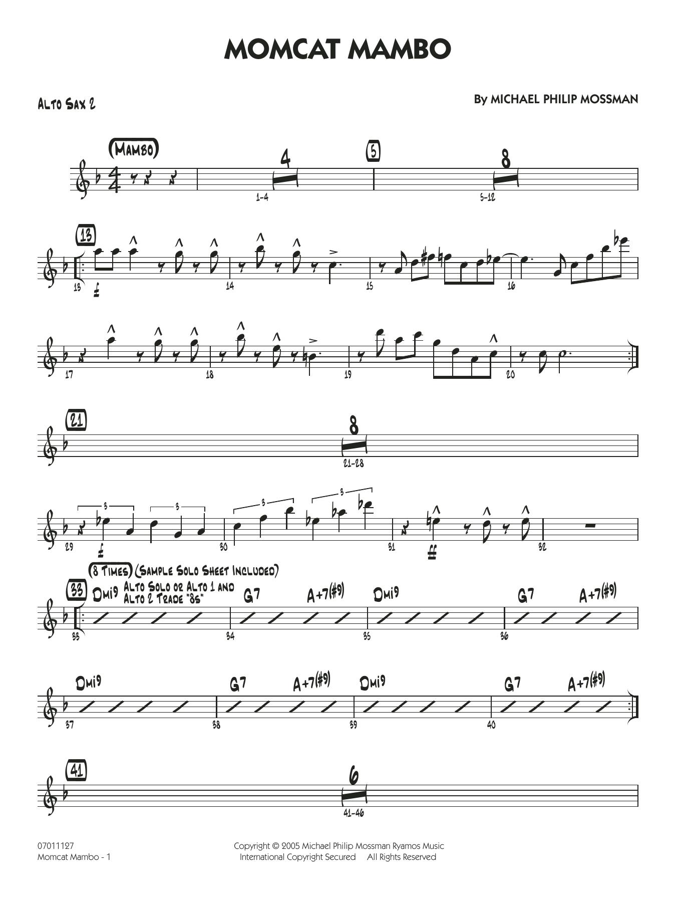 Momcat Mambo - Alto Sax 2 (Jazz Ensemble)