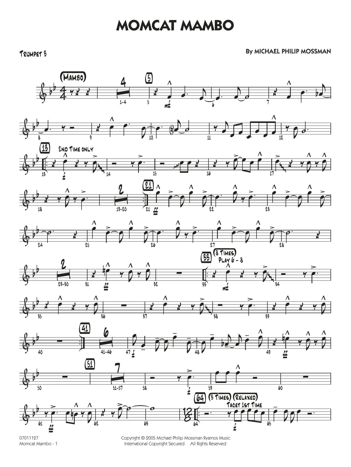 Momcat Mambo - Trumpet 3 (Jazz Ensemble)