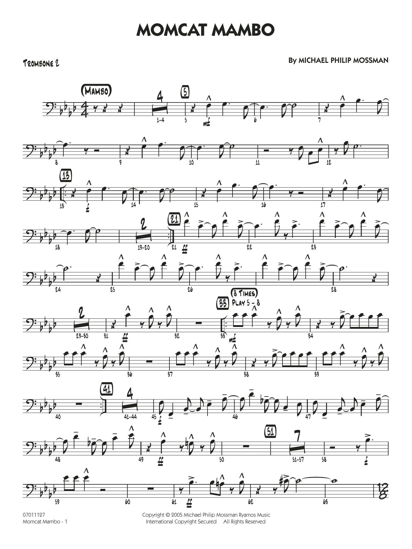 Momcat Mambo - Trombone 2 (Jazz Ensemble)
