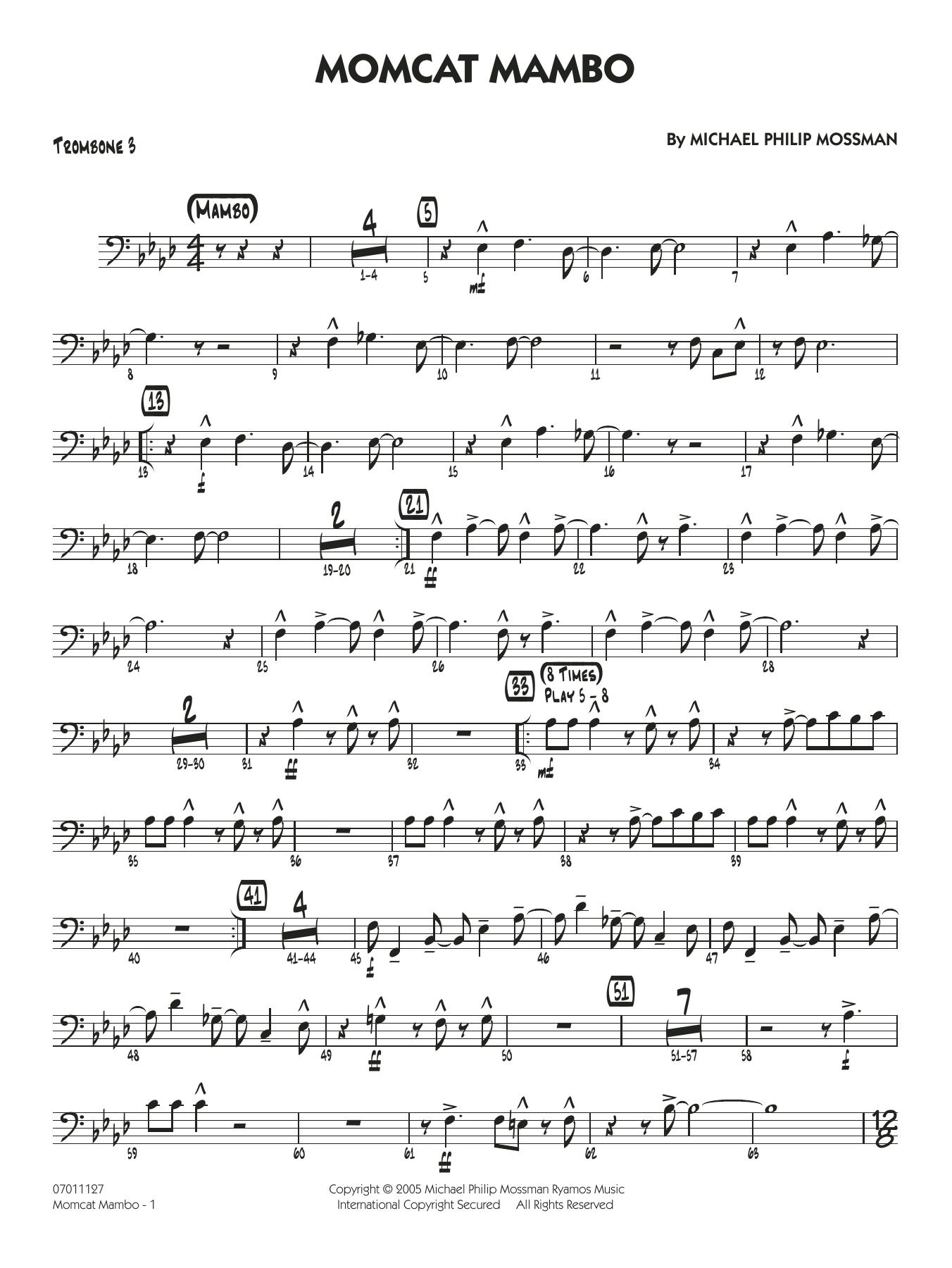Momcat Mambo - Trombone 3 (Jazz Ensemble)