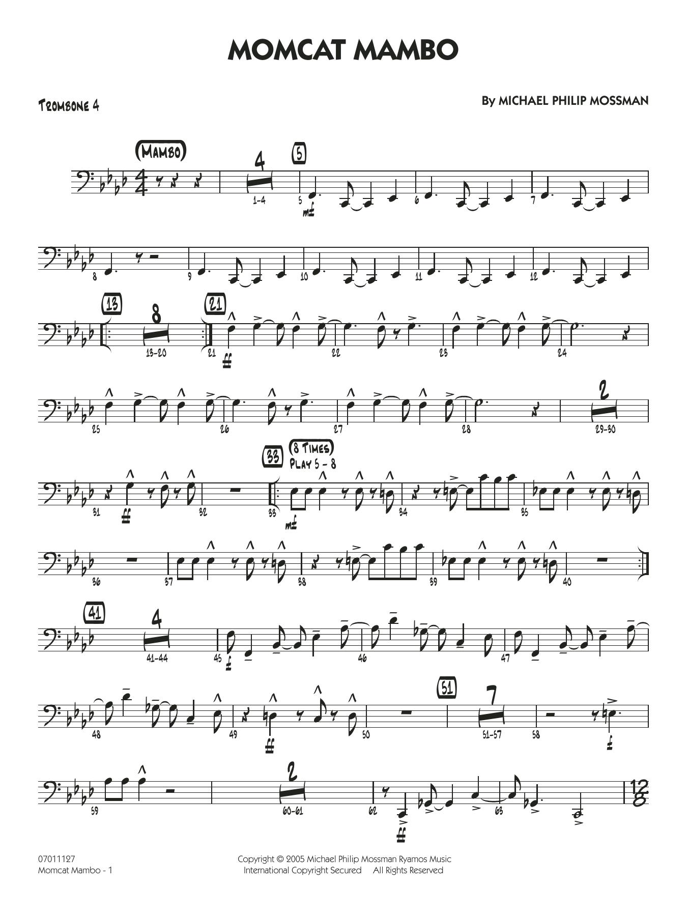 Momcat Mambo - Trombone 4 (Jazz Ensemble)