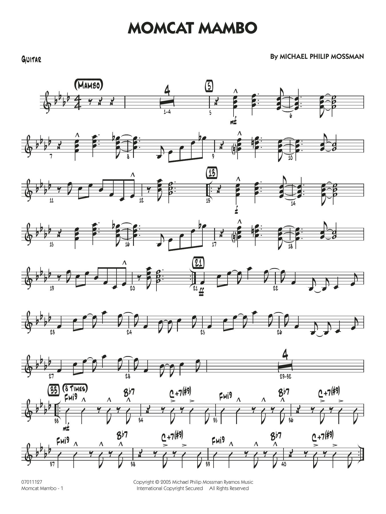 Momcat Mambo - Guitar (Jazz Ensemble)