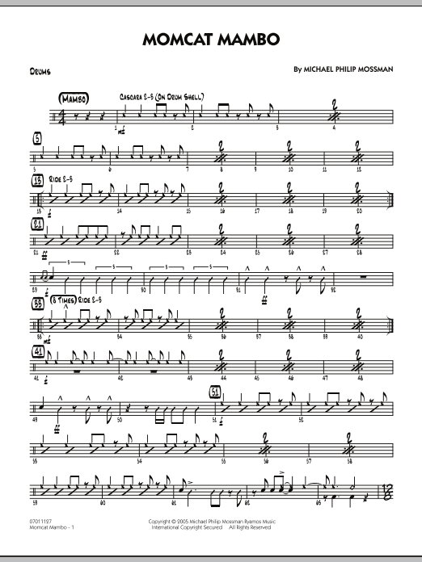 Momcat Mambo - Drums (Jazz Ensemble)