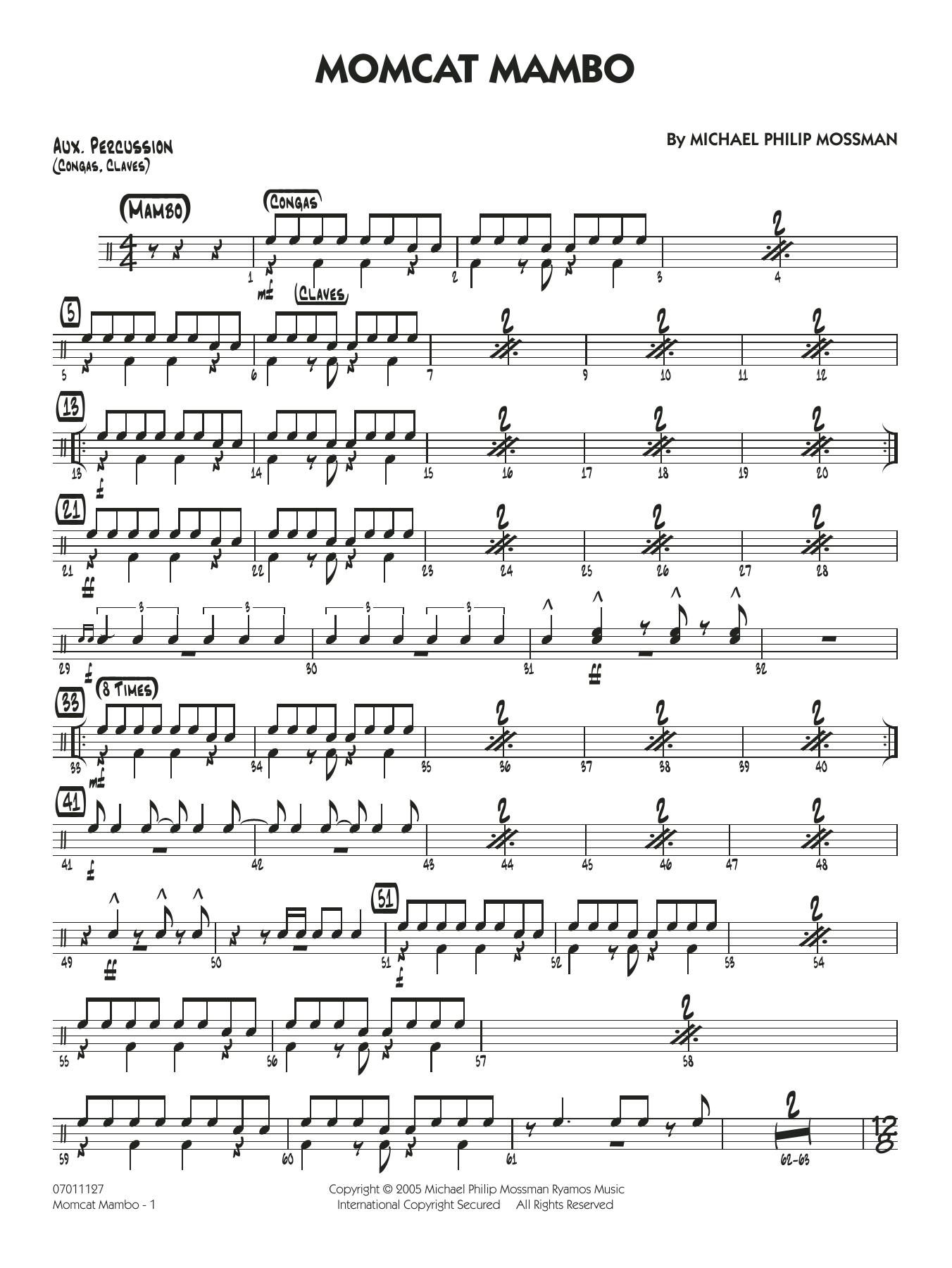 Momcat Mambo - Aux Percussion (Jazz Ensemble)