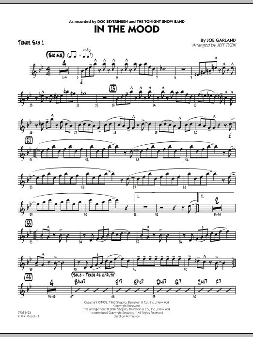 In The Mood (The Tonight Show version) - Tenor Sax 1 (Jazz Ensemble)
