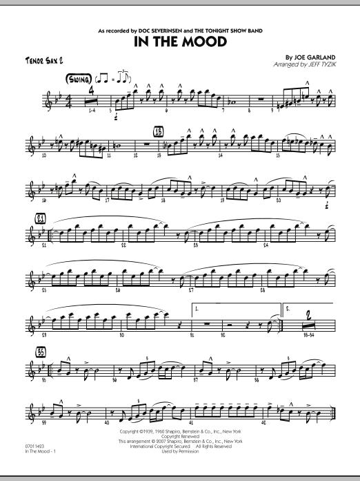 In The Mood (The Tonight Show version) - Tenor Sax 2 (Jazz Ensemble)