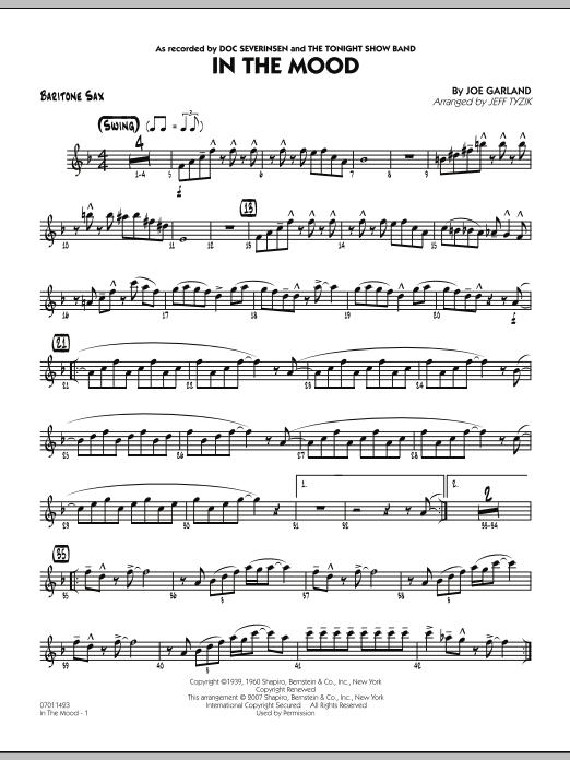 In The Mood (The Tonight Show version) - Baritone Sax (Jazz Ensemble)