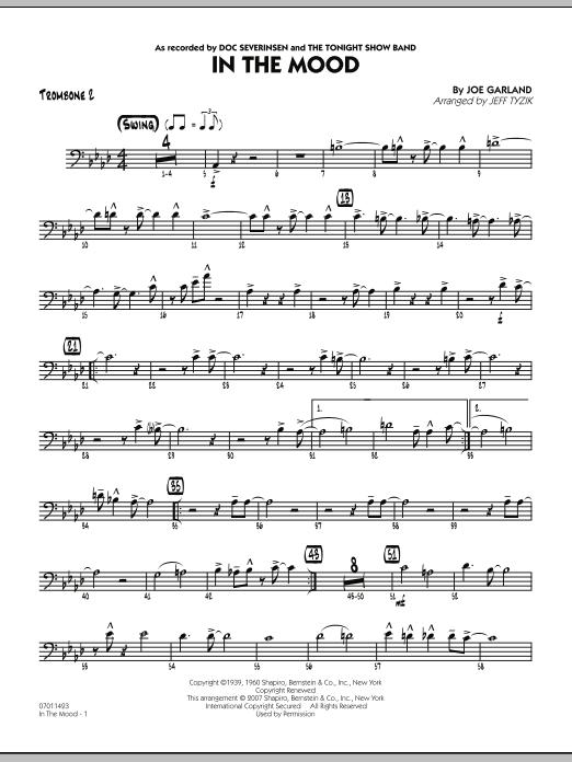 In The Mood (The Tonight Show version) - Trombone 2 (Jazz Ensemble)