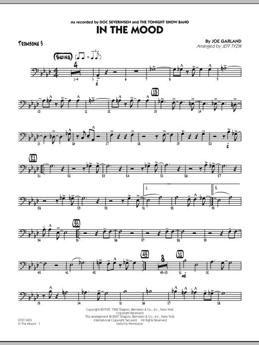 In The Mood (The Tonight Show version) - Trombone 3 (Jazz Ensemble)