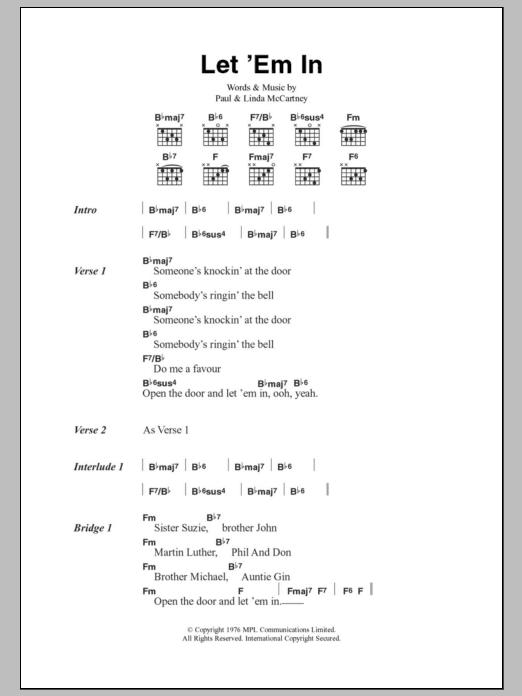 Let \'Em In | Sheet Music Direct